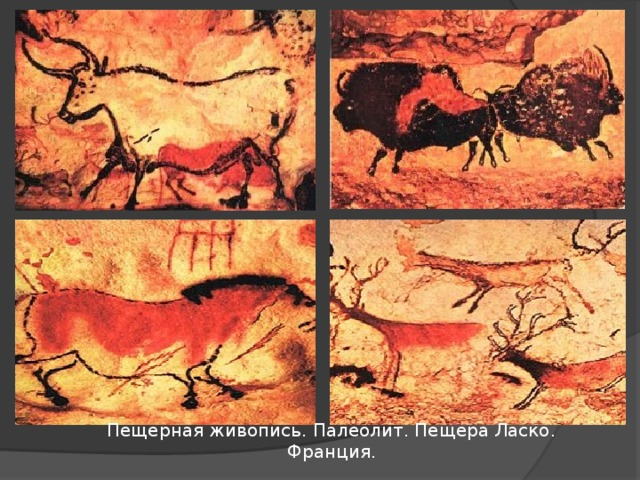 Пещерная живопись. Палеолит. Пещера Ласко. Франция.