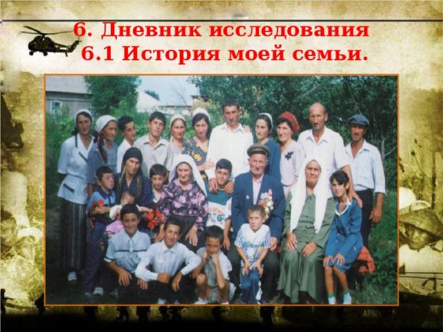 6. Дневник исследования 6.1 История моей семьи.