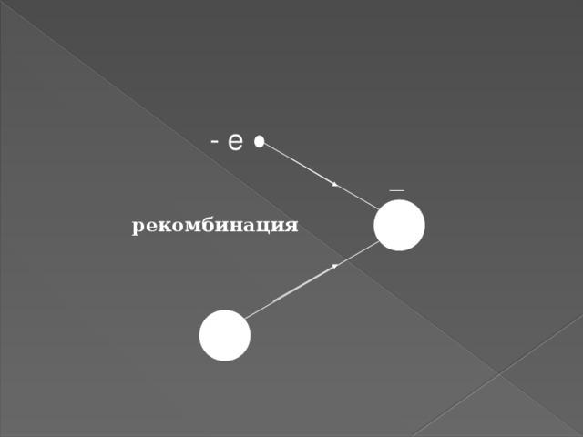 - e ― + рекомбинация + 4