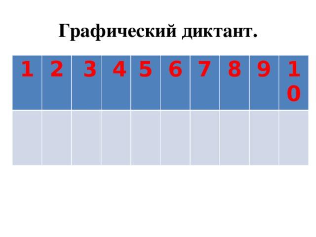 Графический диктант. 1 2  3  4 5 6 7 8 9 10