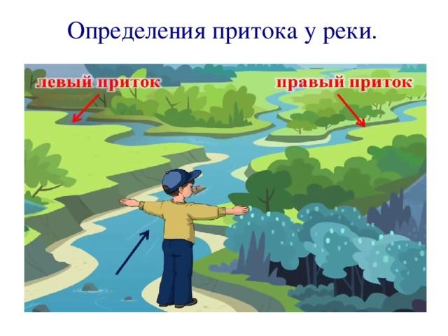 Определения притока у реки.