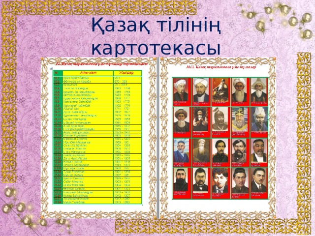 Қазақ тілінің картотекасы