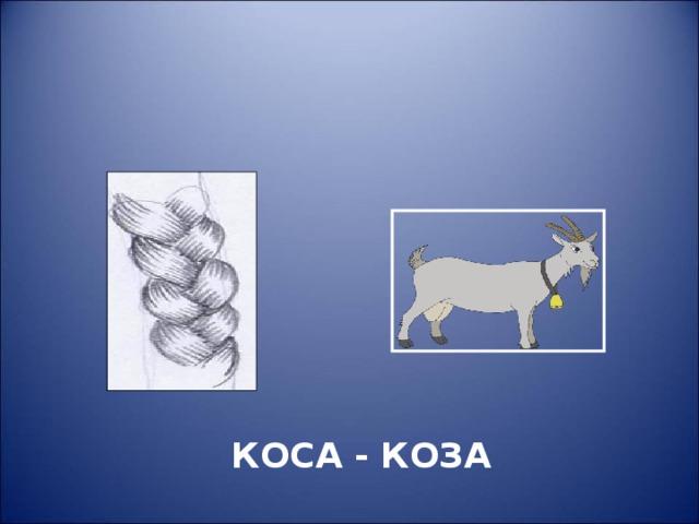 этом логопедические картинки коза-коса она предпочитает