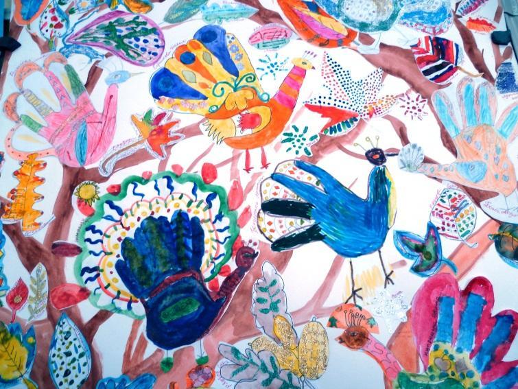 Пример коллективных творческих работ для уроков ИЗО в 6 классе | 567x755
