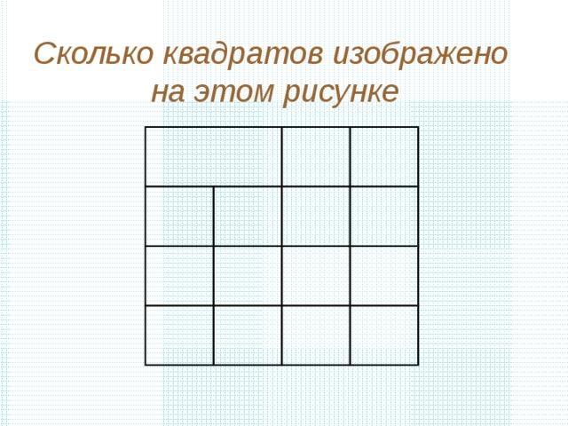 сколько квадратов изображено на этой картинке шведских