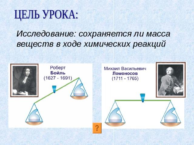 Исследование: сохраняется ли масса веществ в ходе химических реакций