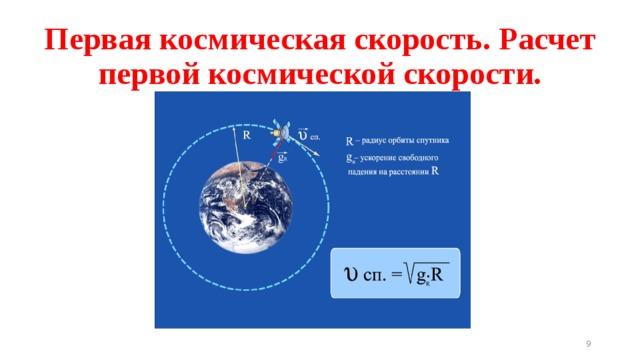2/7/18 Первая космическая скорость. Расчет первой космической скорости. Работа с программой «Наглядная физика. Кинематика и динамика. Законы сохранения». 17. Движение тела в гравитационном поле. Вкладка 2,!.