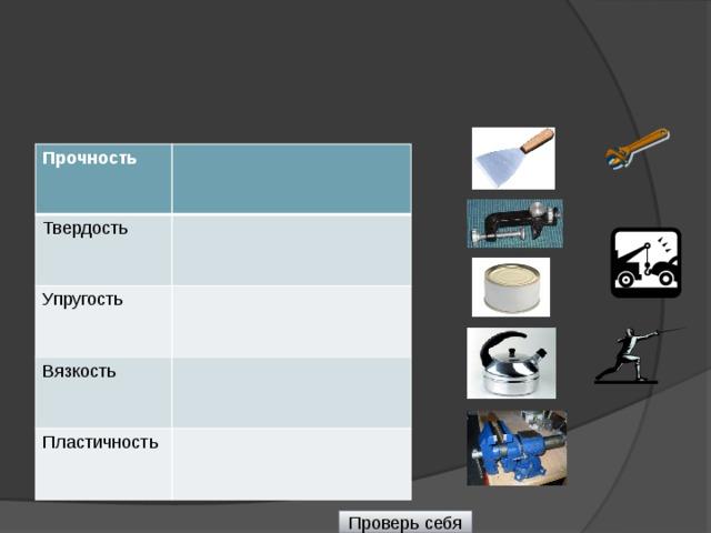 Механические свойства Прочность Твёрдость Упругость Вязкость Хрупкость Пластичность