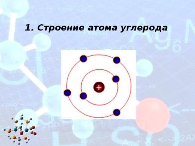 Картинка атома углерода