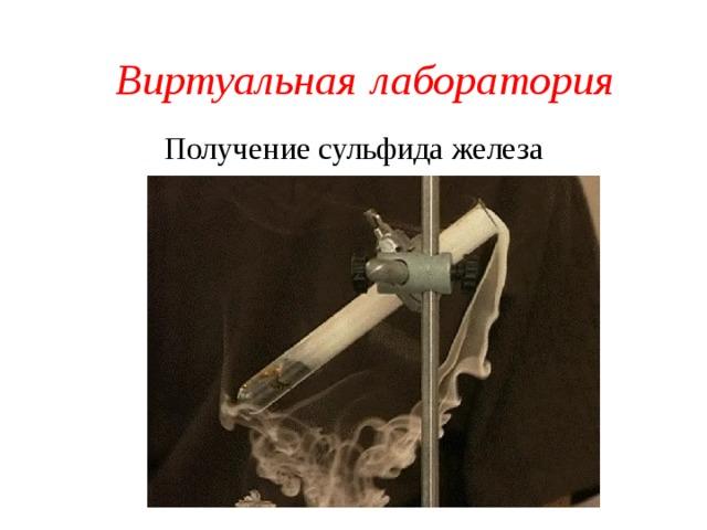 Виртуальная  лаборатория Получение сульфида железа