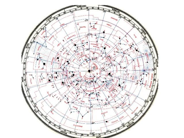 Карта звездного неба картинки распечатать