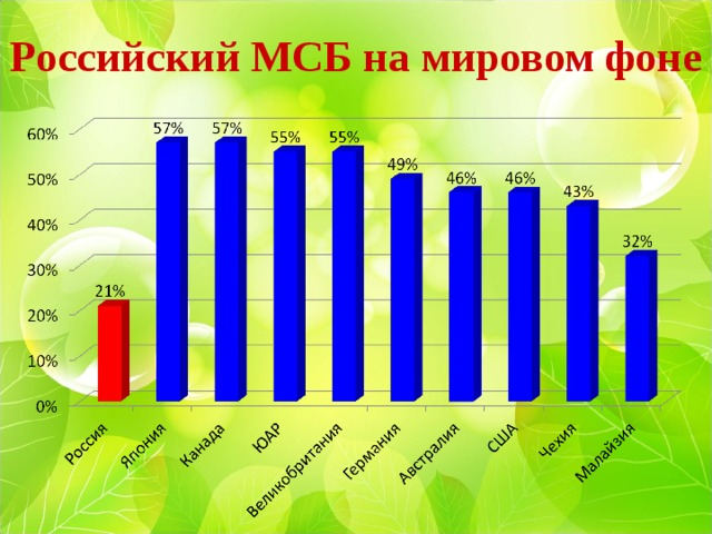 Российский МСБ на мировом фоне