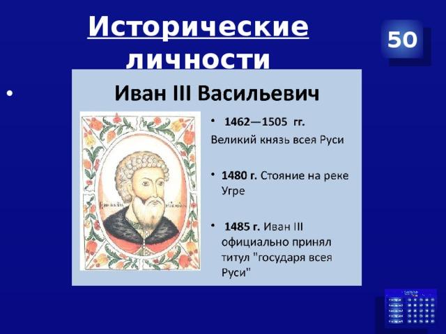 Исторические личности 50