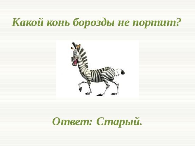 Открытка старый конь борозды не портит
