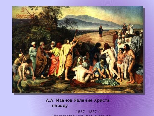 А.А. Иванов Явление Христа народу  1837 - 1857 гг.  Государственная Третьяковская галерея