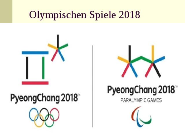 Olympischen Spiele 2018
