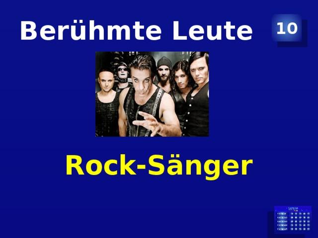 Berühmte Leute 10 Rock-Sänger