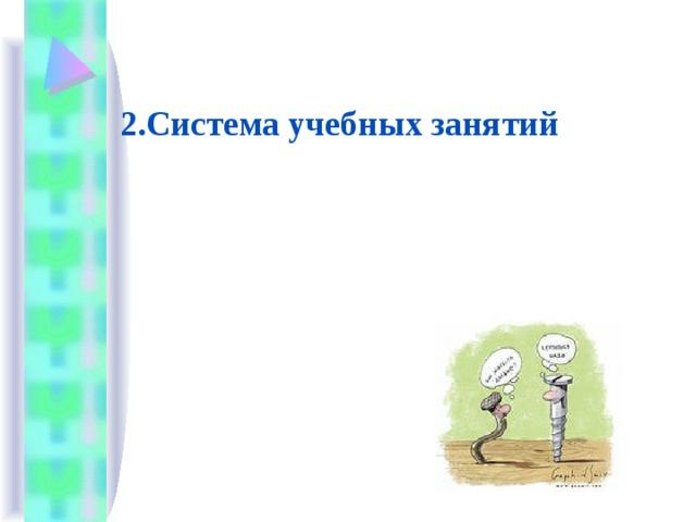 2.Система учебных занятий
