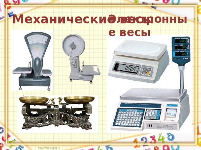 Механические весы Электронные весы
