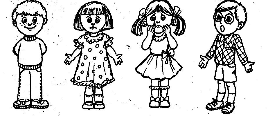 Раскраска для детей эмоции человека