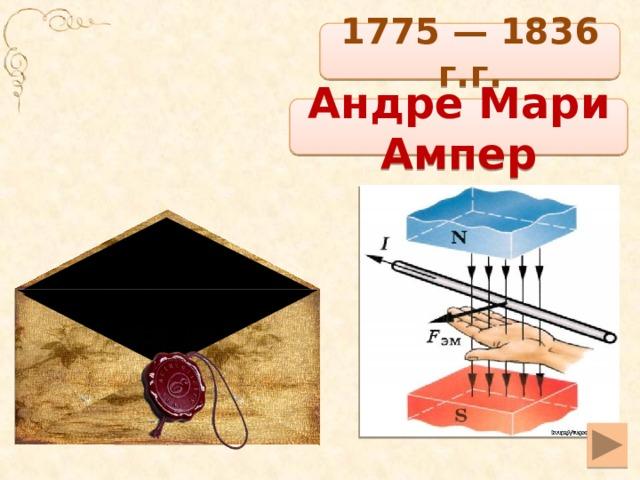 1775 — 1836 г.г. Андре Мари Ампер