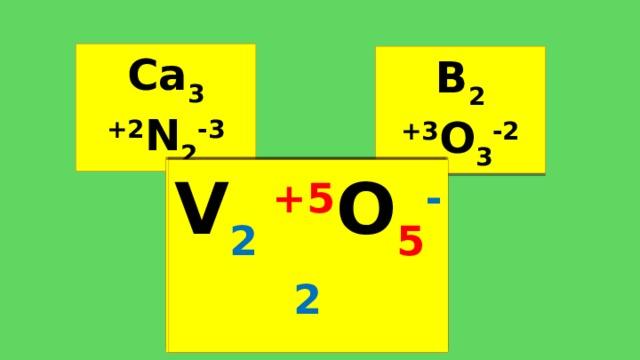 Ca 3 +2 N 2 -3 B 2 +3 O 3 -2 V x +5 O y -2 V 2 +5 O 5 -2