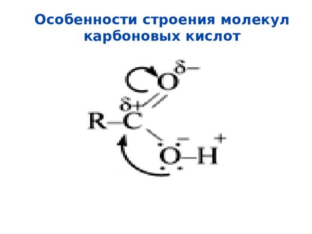 Особенности строения молекул карбоновых кислот