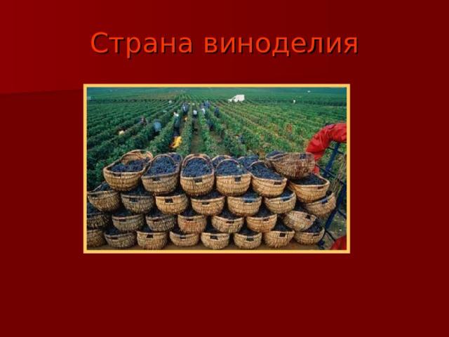 Страна виноделия