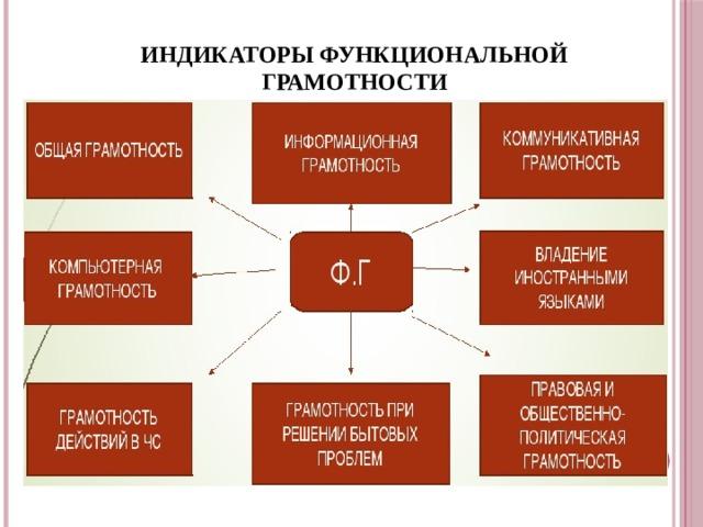 ИНДИКАТОРЫ ФУНКЦИОНАЛЬНОЙ ГРАМОТНОСТИ