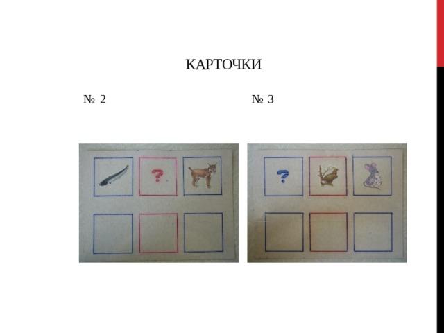 Карточки № 2 № 3