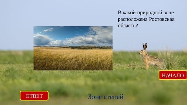 В какой природной зоне расположена Ростовская область? НАЧАЛО ОТВЕТ Зоне степей