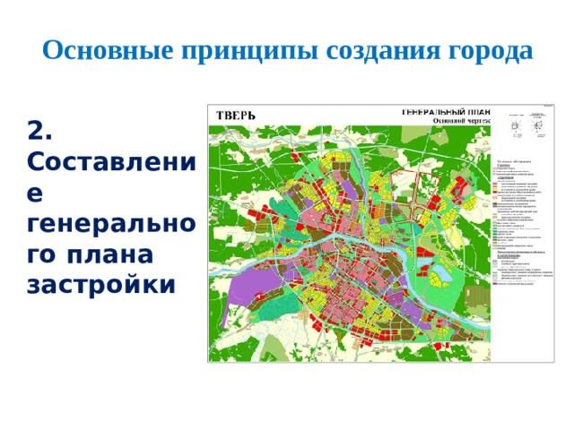 Основные принципы создания города 2. Составление генерального плана застройки