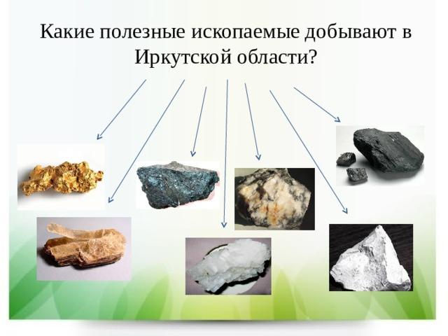 Какие полезные ископаемые добывают в Иркутской области?