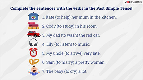 The Past Simple Tense: regular verbs