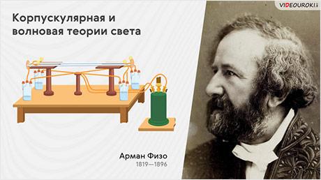 Корпускулярная и волновая теории света. Скорость света