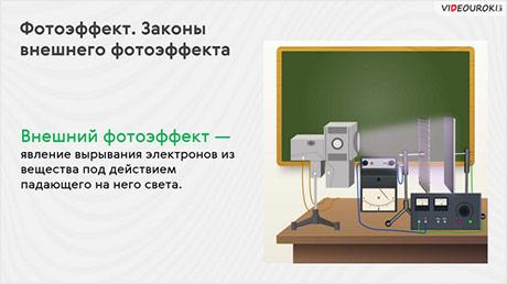 Фотоэффект. Законы внешнего фотоэффекта
