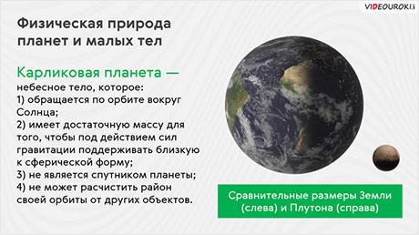 Физическая природа планет и малых тел Солнечной системы