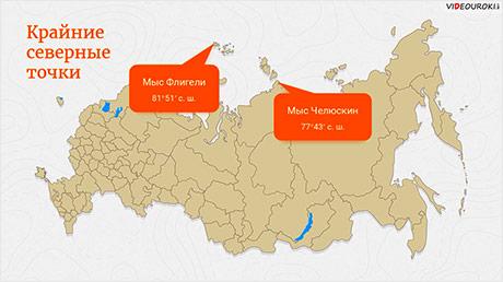 Особенности географического положения России