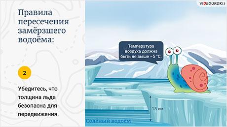 Правила нахождения на льду
