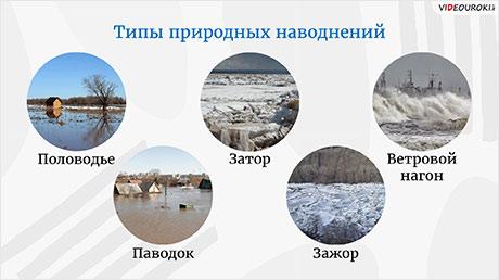 Гидрологические чрезвычайные ситуации: наводнения