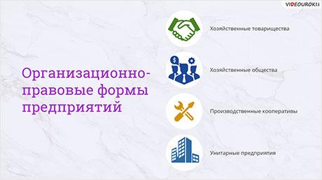 Организационно-правовые формы предприятий