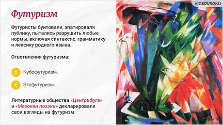Судьба России в ХХ веке. Литературный процесс начала ХХ века