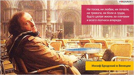 Иосиф Бродский. Жизнь и творчество. Лирика Бродского
