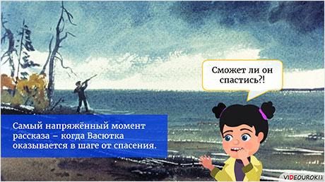 Сюжет и герои рассказа «Васюткино озеро»