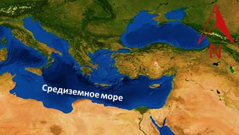 Масштаб карты мирового океана